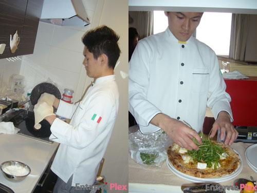 ピザは自宅でシェフが生地から手作り/生ハムとルッコラのピザ